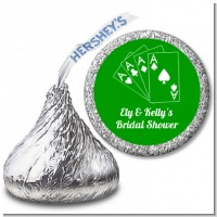 Deck of Cards - Hershey Kiss Bridal Shower Sticker Labels