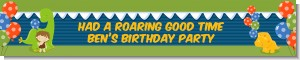 Dinosaur and Caveman - Personalized Birthday Party Banners