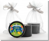 Dinosaur and Caveman - Birthday Party Black Candle Tin Favors