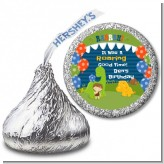 Dinosaur and Caveman - Hershey Kiss Birthday Party Sticker Labels