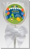 Dinosaur and Caveman - Personalized Birthday Party Lollipop Favors