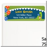 Dinosaur and Caveman - Birthday Party Return Address Labels