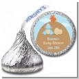 Dinosaur Baby Boy - Hershey Kiss Baby Shower Sticker Labels thumbnail