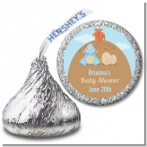 Dinosaur Baby Boy - Hershey Kiss Baby Shower Sticker Labels