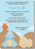Dinosaur Baby Boy - Baby Shower Invitations