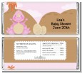Dinosaur Baby Girl - Personalized Baby Shower Candy Bar Wrappers thumbnail