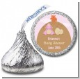Dinosaur Baby Girl - Hershey Kiss Baby Shower Sticker Labels thumbnail