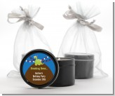 Dinosaur - Birthday Party Black Candle Tin Favors