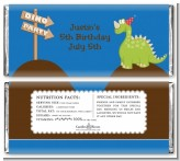 Dinosaur - Personalized Birthday Party Candy Bar Wrappers