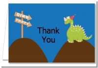 Dinosaur - Birthday Party Thank You Cards