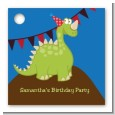 Dinosaur - Personalized Birthday Party Card Stock Favor Tags thumbnail
