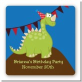 Dinosaur - Square Personalized Birthday Party Sticker Labels