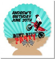 Dirt Bike - Personalized Birthday Party Centerpiece Stand