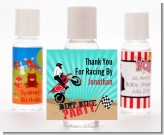 Dirt Bike - Personalized Birthday Party Hand Sanitizers Favors