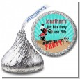 Dirt Bike - Hershey Kiss Birthday Party Sticker Labels thumbnail
