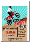 Dirt Bike - Birthday Party Petite Invitations