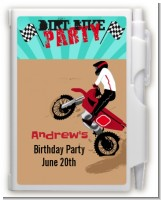 Dirt Bike - Birthday Party Personalized Notebook Favor