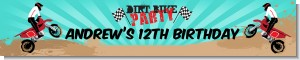 Dirt Bike - Personalized Birthday Party Banners