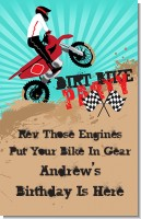 Dirt Bike - Personalized Birthday Party Wall Art