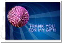 Disco Ball - Birthday Party Thank You Cards