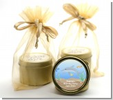 Dolphin - Birthday Party Gold Tin Candle Favors