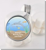 Dolphin - Personalized Birthday Party Candy Jar