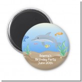 Dolphin - Personalized Birthday Party Magnet Favors