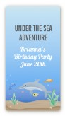 Dolphin - Custom Rectangle Birthday Party Sticker/Labels