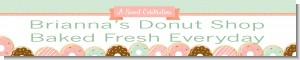Donut Party - Personalized Birthday Party Banners