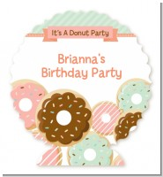 Donut Party - Personalized Birthday Party Centerpiece Stand
