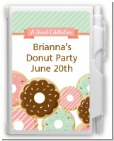 Donut Party - Birthday Party Personalized Notebook Favor