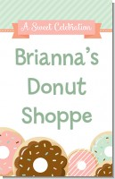 Donut Party - Personalized Birthday Party Wall Art
