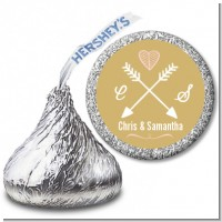 Double Arrows - Hershey Kiss Bridal Shower Sticker Labels