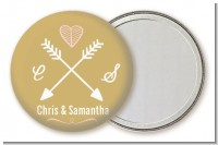 Double Arrows - Personalized Bridal Shower Pocket Mirror Favors