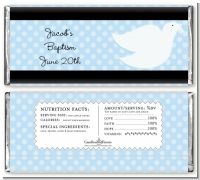 Dove Blue - Personalized Baptism / Christening Candy Bar Wrappers
