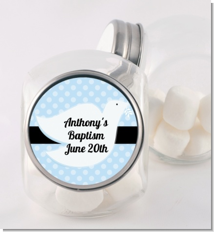Dove Blue - Personalized Baptism / Christening Candy Jar
