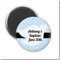 Dove Blue - Personalized Baptism / Christening Magnet Favors