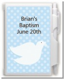 Dove Blue - Baptism / Christening Personalized Notebook Favor