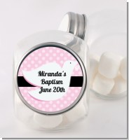 Dove Pink - Personalized Baptism / Christening Candy Jar