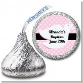 Dove Pink - Hershey Kiss Baptism / Christening Sticker Labels