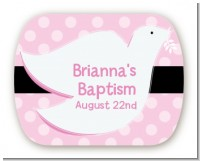 Dove Pink - Personalized Baptism / Christening Rounded Corner Stickers