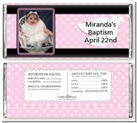 Dove Pink Photo - Personalized Baptism / Christening Candy Bar Wrappers