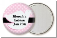 Dove Pink - Personalized Baptism / Christening Pocket Mirror Favors