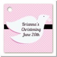 Dove Pink - Personalized Baptism / Christening Card Stock Favor Tags