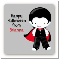 Dracula - Square Personalized Halloween Sticker Labels
