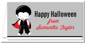 Dracula - Personalized Halloween Place Cards