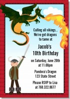 Dragon and Vikings - Birthday Party Invitations