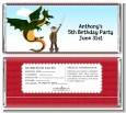 Dragon and Vikings - Personalized Birthday Party Candy Bar Wrappers thumbnail