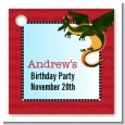 Dragon and Vikings - Personalized Birthday Party Card Stock Favor Tags thumbnail
