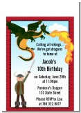 Dragon and Vikings - Birthday Party Petite Invitations